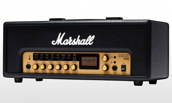 Marshall CODE100H Bluetooth Enabled Code Series 100 Watt Digital Guitar Amplifier Head with PEDL-91010 Footswitch code-100-h Product Image 5