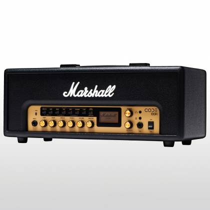 Marshall CODE100H Bluetooth Enabled Code Series 100 Watt Digital Guitar Amplifier Head with PEDL-91010 Footswitch code-100-h Product Image