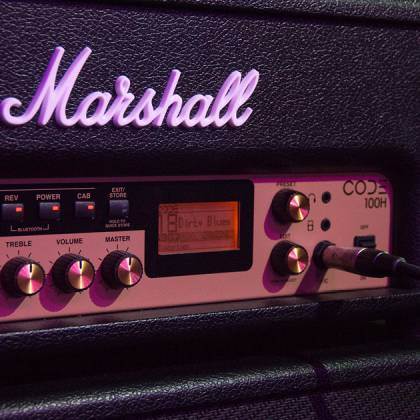 Marshall CODE100H Bluetooth Enabled Code Series 100 Watt Digital Guitar Amplifier Head with PEDL-91010 Footswitch code-100-h Product Image 4