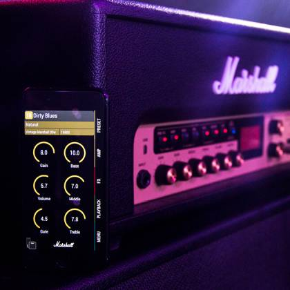Marshall CODE100H Bluetooth Enabled Code Series 100 Watt Digital Guitar Amplifier Head with PEDL-91010 Footswitch code-100-h Product Image 3