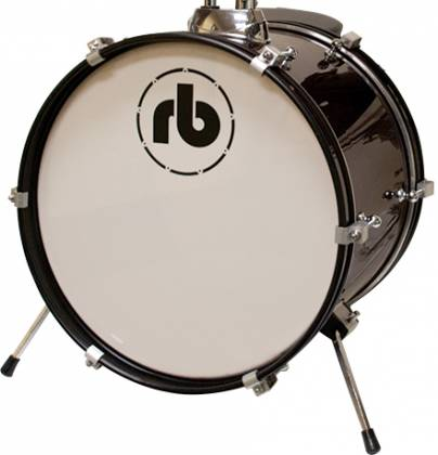 RB Drums RBJR3BK Black 3 Piece Junior Acoustic Drum Kit rb-jr-3-bk Product Image