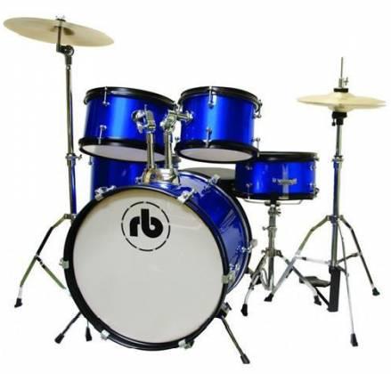 RB Drums RBJR5SBL Sparkle Blue 5 Piece Junior Acoustic Drum Kit rb-jr-5-sbl Product Image
