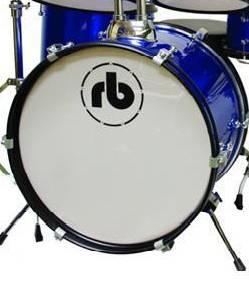 RB Drums RBJR5SBL Sparkle Blue 5 Piece Junior Acoustic Drum Kit rb-jr-5-sbl Product Image 2