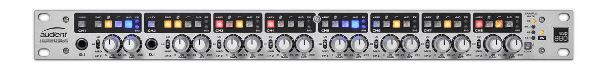 Audient ASP880 1RU 8-Channel Microphone Preamplifier and ADC asp-880 Product Image 4