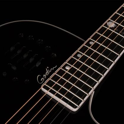 Godin 046188 Black MultiAc Steel Doyle Dykes Signature Edition 6 String RH Electric Guitar with Tric Case Product Image 4