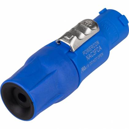 Neutrik NAC3FCA   Blue Lockable Cable Connector Power In with Screw Terminals nac-3-fca Product Image 2