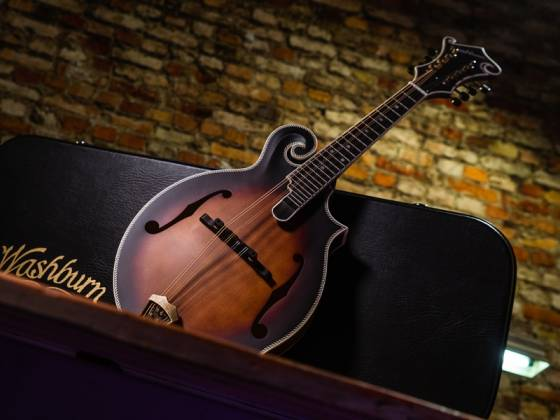 Washburn M118SWK-D Americana Series F-style Vintage Mandolin with a Hard Case m-118-swk-d Product Image 9