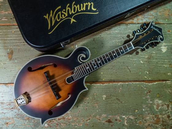 Washburn M118SWK-D Americana Series F-style Vintage Mandolin with a Hard Case m-118-swk-d Product Image 4