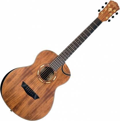 Washburn WCGM55K-D Comfort Series G-Mini 55 Koa 6-string RH Cutaway Acoustic Guitar-Natural satin Finish with Gigbag Product Image