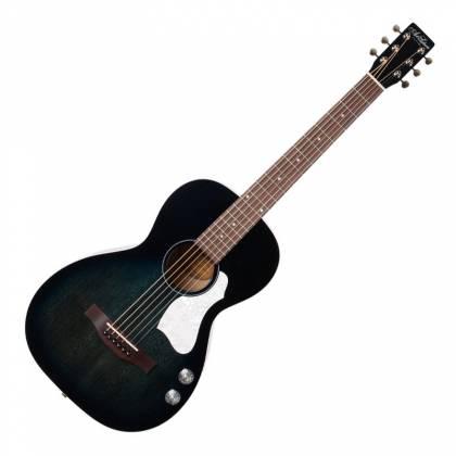 Art & Lutherie 047703-d2019 Roadhouse Q-Discrete Parlor 6 String RH Acoustic/Electric Guitar – Indigo Burst with Bag Product Image