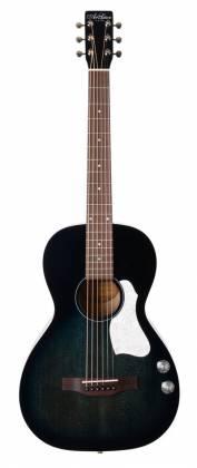 Art & Lutherie 047703-d2019 Roadhouse Q-Discrete Parlor 6 String RH Acoustic/Electric Guitar – Indigo Burst with Bag Product Image 11
