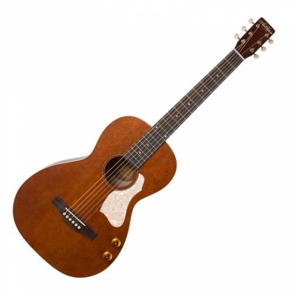 Art & Lutherie 047727-d2019 Roadhouse Q-Discrete Parlor 6 String RH Acoustic/Electric Guitar – Havana Brown with Bag Product Image