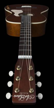 Art & Lutherie 047727-d2019 Roadhouse Q-Discrete Parlor 6 String RH Acoustic/Electric Guitar – Havana Brown with Bag Product Image 4