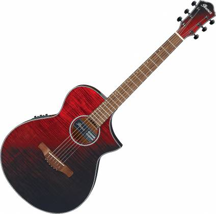 Ibanez AEWC 32 FM RSF 6 String RH Acoustic Electric Guitar-Red Sunset Fade aew-c-32-fm-rsf Product Image
