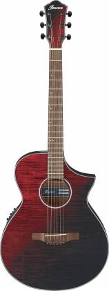 Ibanez AEWC 32 FM RSF 6 String RH Acoustic Electric Guitar-Red Sunset Fade aew-c-32-fm-rsf Product Image 8
