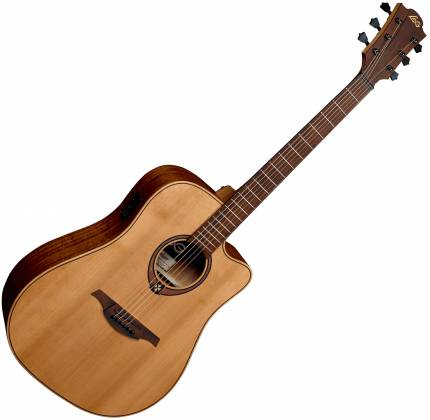 Lag T170 DCE Tramontane Cutaway Dreadnought 6 String RH Acoustic Guitar with Pickup t-170-dce Product Image