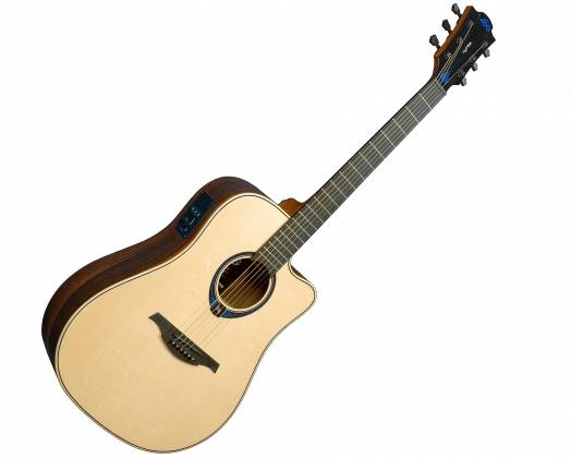Lag THV30DCE Tramontane HyVibe BearClaw Spruce 6 String RH Acoustic-Electric Smart Guitar w/ Bluetooth with hardshell case thv-30-d-ce Product Image