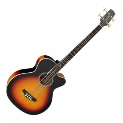 Takamine GB72-CE BSB G-Series Jumbo 4-String RH Acoustic-Electric Bass Guitar-Brown Sunburst Product Image