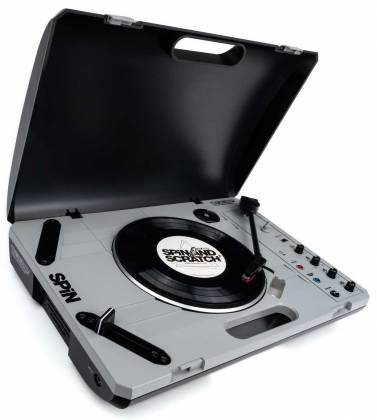 """Reloop SPIN Portable Turntable with 7"""" Scratch Vinyl, Slipmat and More Product Image 2"""
