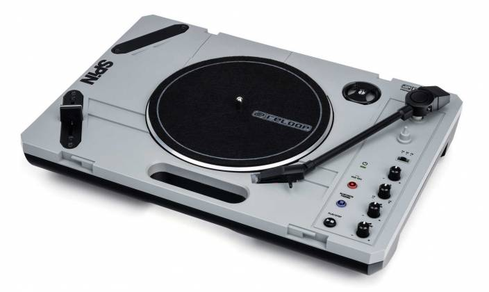 """Reloop SPIN Portable Turntable with 7"""" Scratch Vinyl, Slipmat and More Product Image 9"""