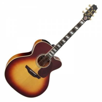 Takamine EF250-TK Pro Series Toby Keith Signature Jumbo 6 String RH Acoustic Electric Guitar with Hard Case-Sunburst Product Image