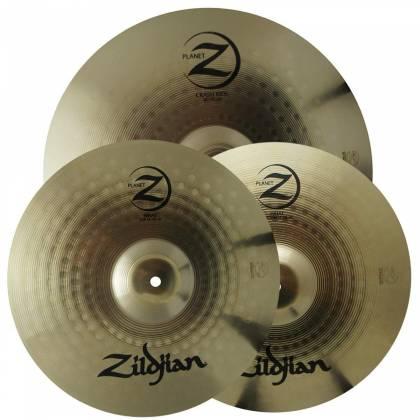 "Zildjian PLZ1418 Planet Z 14"" Hi-Hat Pair, 18"" Crash-Ride Cymbal Pack Product Image 5"