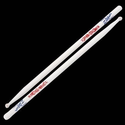 Zildjian ZASTB Travis Barker Artist Series Signature Drumsticks-White Product Image 2