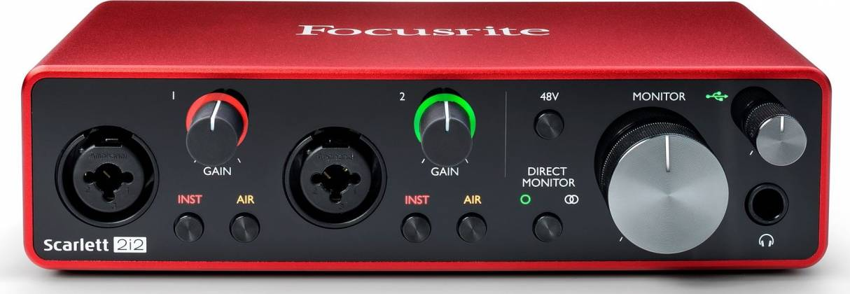 Focusrite Scarlett 2i2 3rd Gen 2 Input 2 Output USB Audio Interface with Mic Preamp Product Image