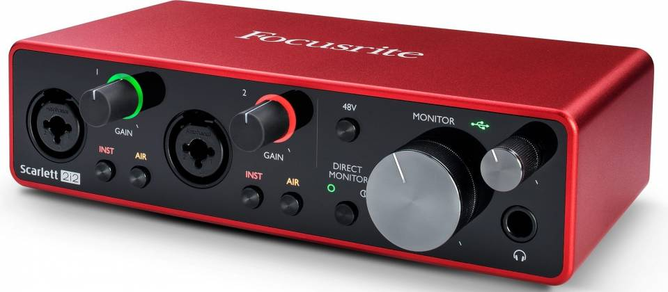 Focusrite Scarlett 2i2 3rd Gen 2 Input 2 Output USB Audio Interface with Mic Preamp Product Image 3