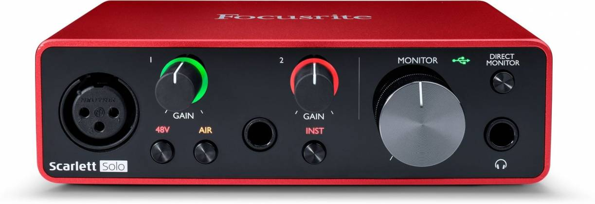 Focusrite Scarlett Solo 3rd Gen USB Audio Interface with Mic Preamp Product Image 3