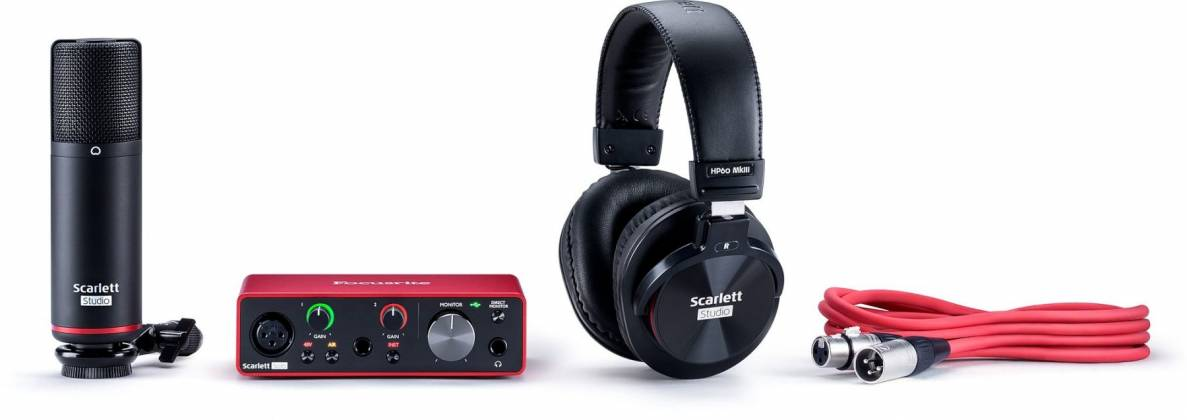 Focusrite ScarlettSolo-Studio 3 rd Gen Recording Bundle with Scarlet Solo and Accessories Product Image 4