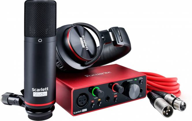 Focusrite ScarlettSolo-Studio 3 rd Gen Recording Bundle with Scarlet Solo and Accessories Product Image