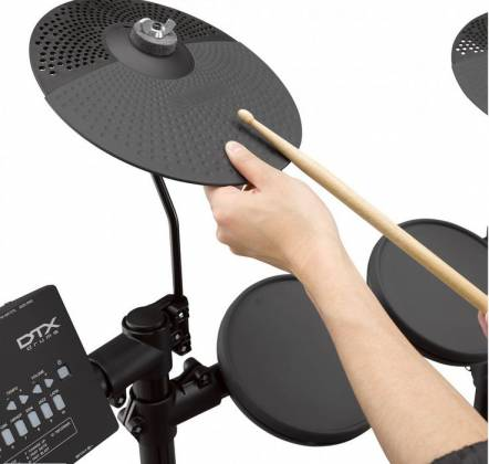 Yamaha DTX402K Electronic Drum Kit with 4 Drum Pads, 3 Cymbal Pads, Drum Module, Rack Stand, and Pedals Product Image 8