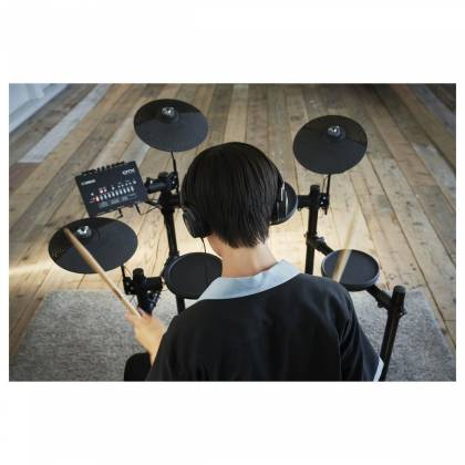 Yamaha DTX402K Electronic Drum Kit with 4 Drum Pads, 3 Cymbal Pads, Drum Module, Rack Stand, and Pedals Product Image 13