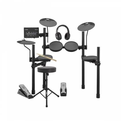 Yamaha DTX402K Electronic Drum Kit with 4 Drum Pads, 3 Cymbal Pads, Drum Module, Rack Stand, and Pedals Product Image 9