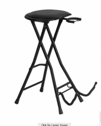On Stage Stands DT7500 Guitar Stool with Footrest and Instrument Stand Product Image