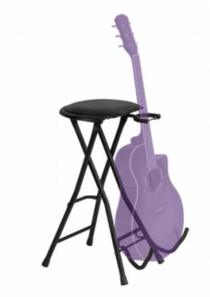 On Stage Stands DT7500 Guitar Stool with Footrest and Instrument Stand Product Image 2
