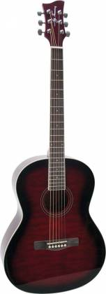 Jay Turser JTA524-D RSBF 524 Series 6-string RH Full Size Dreadnought Acoustic Guitar-Red Sunburst Flame Product Image 2