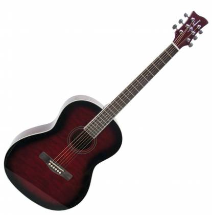 Jay Turser JTA524-D RSBF 524 Series 6-string RH Full Size Dreadnought Acoustic Guitar-Red Sunburst Flame Product Image