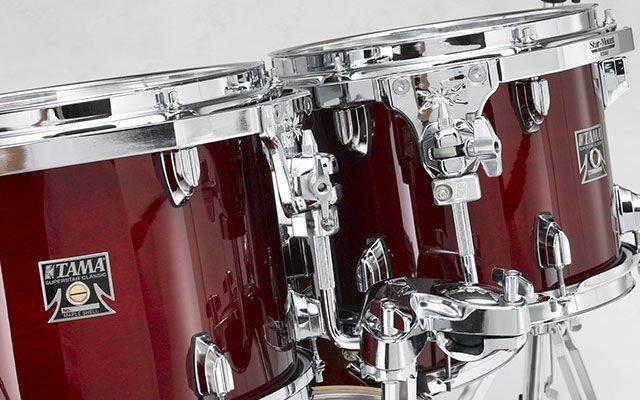 Tama CL52KSMHB Superstar Classic 5-piece Lacquer Finish Maple Shell Pack-Mahogany Burst cl-52-ks-mhb Product Image 8