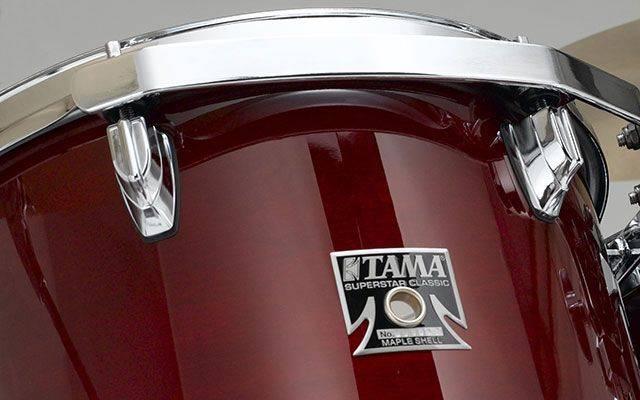 Tama CL52KSMHB Superstar Classic 5-piece Lacquer Finish Maple Shell Pack-Mahogany Burst cl-52-ks-mhb Product Image 7