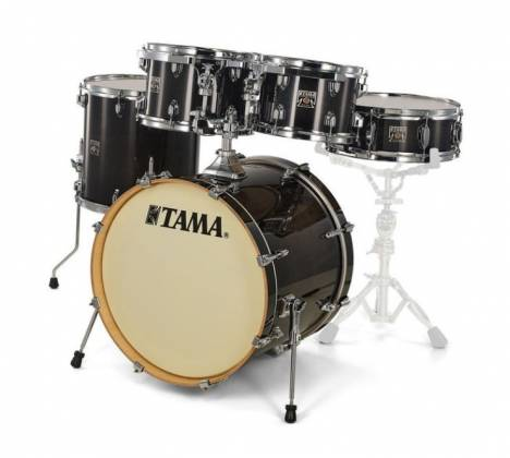 Tama CL50RSTPB Superstar Classic 5-Piece Drum Set Shell Pack-Transparent Black Burst Finish cl-50-rs-tpb Product Image 5