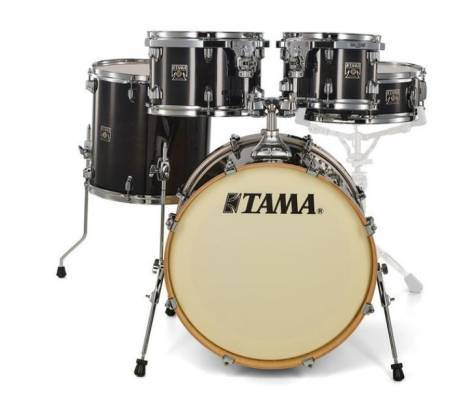 Tama CL50RSTPB Superstar Classic 5-Piece Drum Set Shell Pack-Transparent Black Burst Finish cl-50-rs-tpb Product Image 4