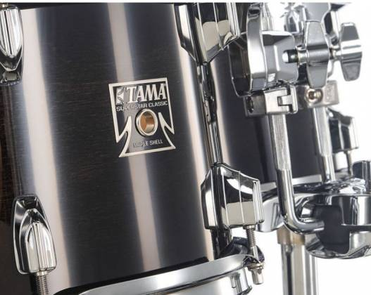Tama CL50RSTPB Superstar Classic 5-Piece Drum Set Shell Pack-Transparent Black Burst Finish cl-50-rs-tpb Product Image 11