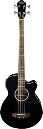 Oscar Schmidt OB100B-A  4-String RH Acoustic/Electric Bass with Gigbag-Black Product Image 2