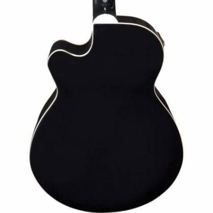 Oscar Schmidt OB100B-A  4-String RH Acoustic/Electric Bass with Gigbag-Black Product Image 6