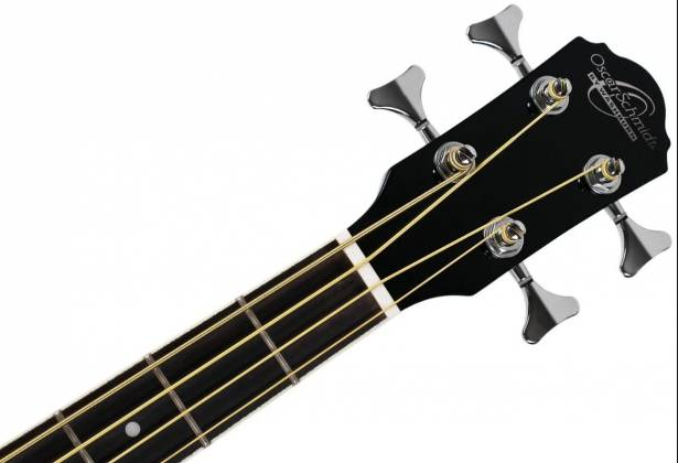 Oscar Schmidt OB100B-A  4-String RH Acoustic/Electric Bass with Gigbag-Black Product Image 4