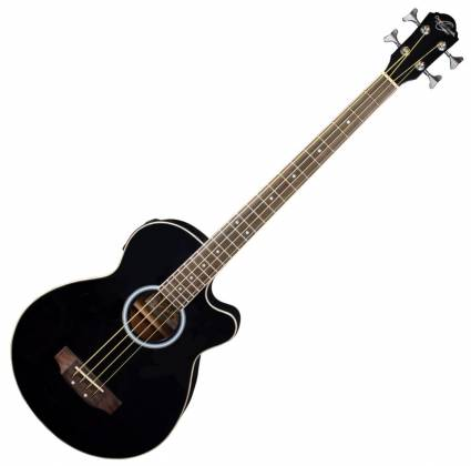 Oscar Schmidt OB100B-A  4-String RH Acoustic/Electric Bass with Gigbag-Black Product Image