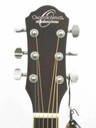 Oscar Schmidt OG10CEFTBLH-A Concert Size Thin Body 6 String LH Acoustic/Electric Guitar-Flame Trans Black og-10-ceftb-lh-a Product Image 2