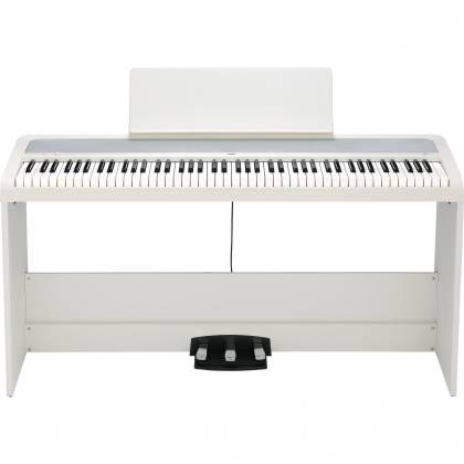 Korg Keyboards B2-SP WH 88-Key Digital Piano with Stand and Three-Pedal  System-White